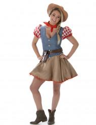 Déguisement cowgirl colorée femme