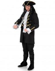 Déguisement pirate noir et doré homme