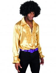Chemise disco dorée homme