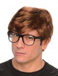 Perruque agent secret avec lunettes