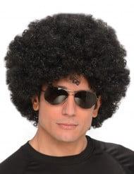Perruque synthétique afro noire homme