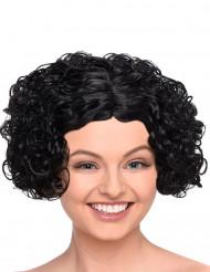 Perruque noire courte bouclée femme