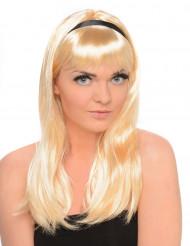Perruque blonde mi longue femme