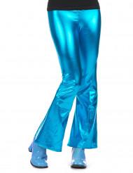 Pantalon disco turquoise femme