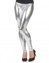 Legging argenté femme