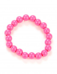 Bracelet perles rose adulte
