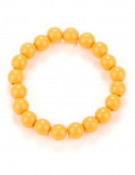 Bracelet perles orange adulte