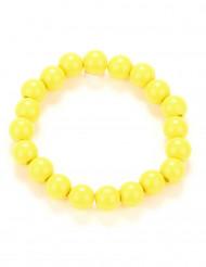 Bracelet perles jaune adulte