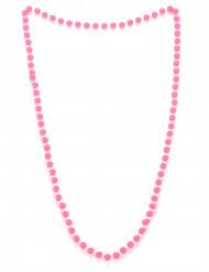 Collier perles rose adulte