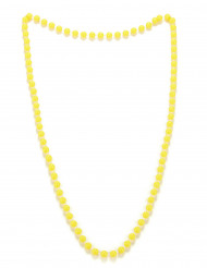 Collier perles jaune adulte