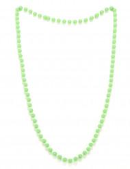 Collier perles vertes adulte