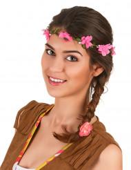 Couronne fleurs roses adulte