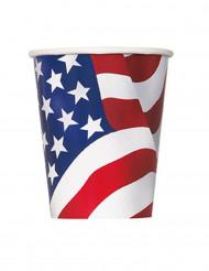 8 Gobelets en carton USA