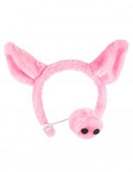 Serre-tête et nez de cochon adulte