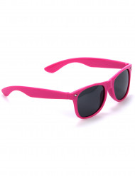 Lunettes blues fluo rose adulte