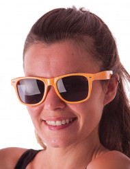 Lunettes blues fluo orange adulte