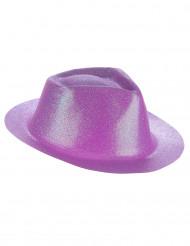 Chapeau pailleté violet adulte