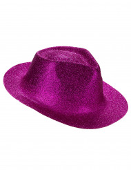 Chapeau pailleté fuschia adulte