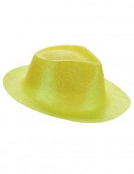 Chapeau pailleté jaune adulte
