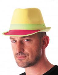 Chapeau trilby fluo jaune adulte