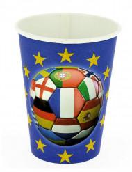 6 Gobelets en carton Foot multi-nations 25 cl