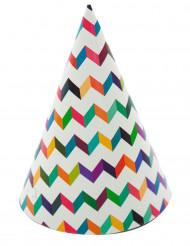 6 Chapeaux de fêtes trendy multicolores