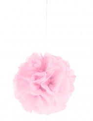 Pompon à suspendre en papier rose 25 cm