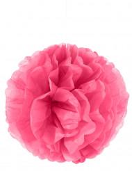 Pompon à suspendre en papier fuchsia 35 cm