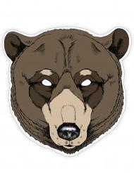 Masque papier ours