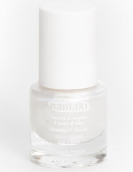 Vernis à ongles base eau pelable blanc nacré 7,5 ml Namaki Cosmetics ©