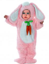 Déguisement lapin rose aux grandes oreilles bébé