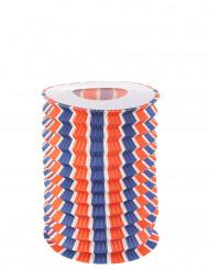 12 Lampions tricolore bleu blanc et rouge 16 cm