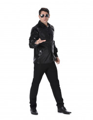 Chemise disco imprimés sequins noirs homme