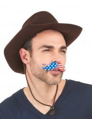 Moustache supporter Etats-Unis adulte