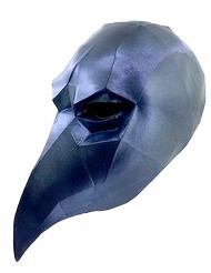 Masque corbeau low poly