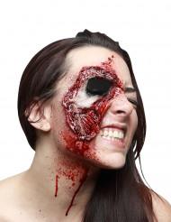 Fausse blessure peau du visage arrachée adulte Halloween