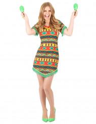 Déguisement mexicaine colorée femme