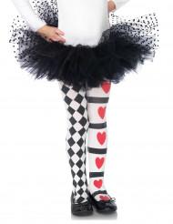 Collants arlequin reine de coeur fille