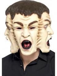 Masque aux 3 visages adulte Halloween