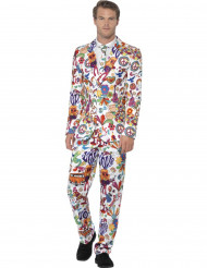 Costume Mr. Groovy multicolore homme