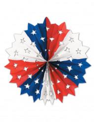 Décoration en papier étoile USA 28 cm