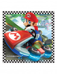 16 Serviettes en papier Super Mario™ 33 cm