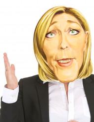Masque en carton Marine Le Pen adulte