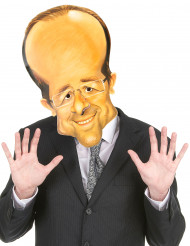 Masque en carton François Hollande adulte