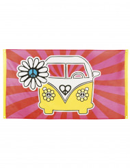 Drapeau Hippie Flower Power 90 x 150 cm