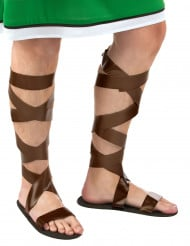 Sandales romaines marrons adulte