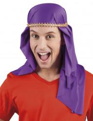 Coiffe émir arabe violette adulte