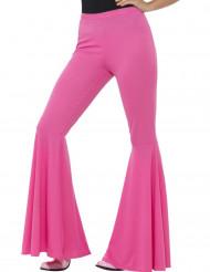 Pantalon disco rose femme