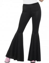 Pantalon disco noir pattes d