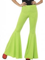 Pantalon disco vert femme